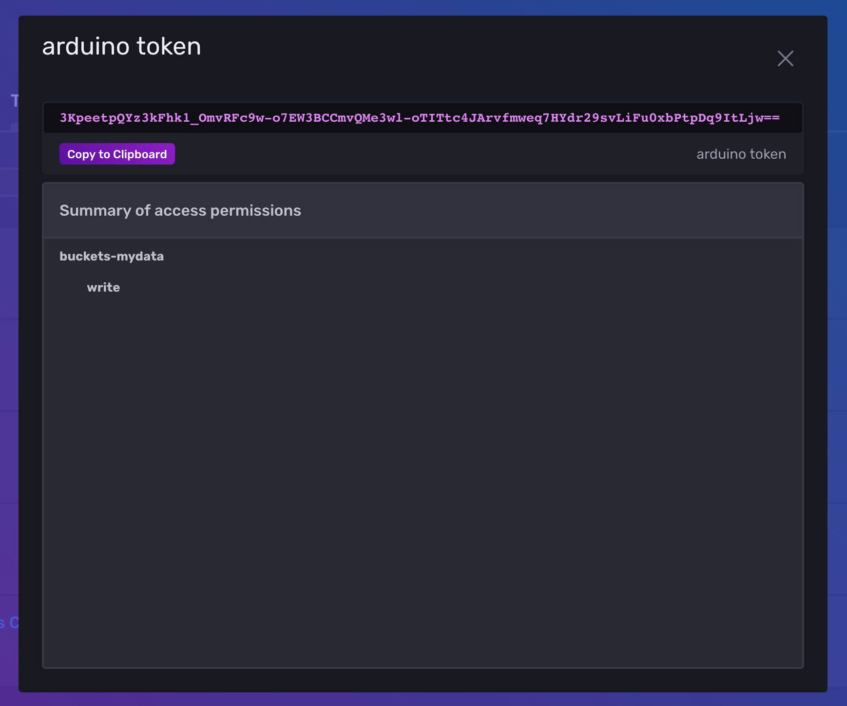 Screenshot of InfluxDB Cloud Portal